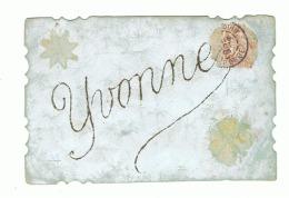 "Carte Postale "" YVONNE "" 1906 (1918)fr41 - Firstnames"