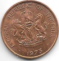 *nigeria 1/2  Kobo 1973 Km 7 - Nigeria
