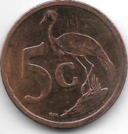 *south Africa 5 Cents 2008 Km 440 - Afrique Du Sud