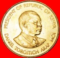 § COCK: KENYA ★ 5 CENTS 1984 MINT LUSTER! LOW START★NO RESERVE! Daniel Toroitich Arap Moi (1978-2002) - Kenya