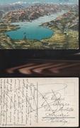 7457) LAGO DI GARDA VISIONE FISICA DALL'ALTO NON VIAGGIATA 1915 CIRCA - Brescia