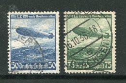 ALLEMAGNE- EMPIRE- P.A Y&T N°55 Et 56- Oblitérés - Luchtpost