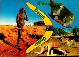 AUSTRALIE..ABORIGENE...CPM ANIMEE - Aborigènes