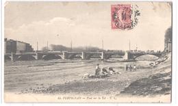 FR66 PERPIGNAN - TC 43 - Pont Sur La Têt - Lavandières - Animée - Perpignan