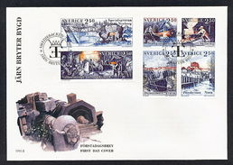 Sweden Fdc 1991 SWEDEN 1991 FDC INDUSTRY MANUFACTURING  A 2,50 Euro - FDC