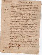 VP5604 - LAGNY - Acte De 1787 - Entre Mme ROGER à THORIGNY & Les Religieux De Lagny - Manuscrits