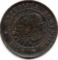 Argentina 1 Centavo 1890  Km 7  Vf - Argentine