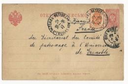 POLOGNE ADMINISTRATION RUSSE - 1906 - CARTE ENTIER De LODZ Pour GRENOBLE - ....-1919 Provisional Government
