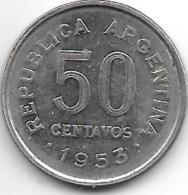 *argentina 50 Centavos 1953  Km 49 - Argentine
