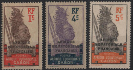 GABON  88 90 91 * MH Guerrier - Gabon (1886-1936)