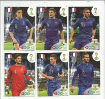 G-I-E , Trading Cards , Carte PANINI , Football , FIFA WORLD CUP , BRASIL , Brésil 2014 , FRANCE , LOT DE 6 CARTES - Trading Cards