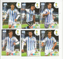 G-I-E , Trading Cards , Carte PANINI , Football , FIFA WORLD CUP , BRASIL , Brésil 2014 , ARGENTINA , LOT DE 6 CARTES - Trading Cards