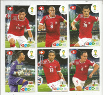 G-I-E , Trading Cards , Carte PANINI , Football , FIFA WORLD CUP , BRASIL , Brésil 2014 , SWITZERLAND , LOT DE 6 CARTES - Trading Cards