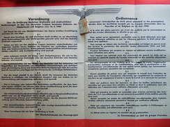 AFFICHE #13 ORDONNANCE DROIT PENAL ALLEMAND TERRITOIRES OCCUPES 1940