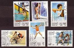 Olympiade 1992 Barcelona, Radfahren,cucling , Boks Laos 1989  (lot 30 - 003) - Laos