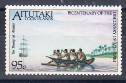 Timbre Neuf** De 1989--N°Yvert  484** - Aitutaki