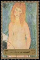 FUJEIRA - YW0497 Blonde Nude By Amedeo Modigliani (*) / Used Stamp - Aktmalerei