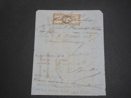 FRANCE - Fiscal Type Napoléon Sur Document  1868 - A Voir - L  3838 - Fiscale Zegels