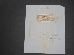 FRANCE - Fiscal Type Napoléon Sur Document  1868 - A Voir - L  3839 - Fiscale Zegels