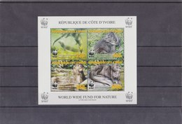 IVORY COAST 2005 WWF Sheet Perforated MNH With Otter FIRST PRINT (english) - W.W.F.