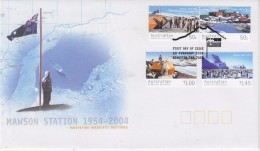 AAT 2004 50Y Mawson Station  4v  FDC (F5738 - FDC