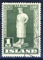 ##Iceland 1941. Michel 225. Cancelled - 1918-1944 Unabhängige Verwaltung