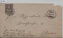 1878 Sitzende Helvetia/Helvétie Assise 30/22 - Stempel: Basel Filiale B.B. 3.XII.78 - Lettres & Documents