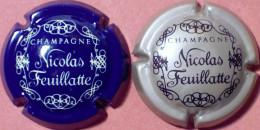 "Feuillatte Nicolas N°11 & 13, Bleu & Blanc Et Gris & Noir ""CHAMPAGNE"" - Champagne"
