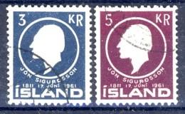 ##Iceland 1961. Michel 350-51. Cancelled - 1944-... Republik