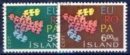 ##Iceland 1961. Michel 354-55. Cancelled - 1944-... Republik