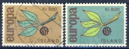 ##Iceland 1965. Michel 395-96. Cancelled - 1944-... Republik