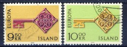 ##Iceland 1968. Michel 417-18. Cancelled - 1944-... Republik