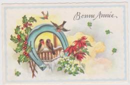 Mignonnette   Bonne   Année   Oiseaux  , Fer à Cheval - Anno Nuovo