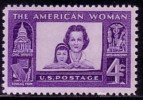1960 USA American Woman Stamp Sc#1152 Book Civic Affair Education Art Industry Mother Microscope Medicine - Other