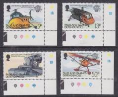 Falkland Islands Dependencies 1983 Bicentenary Of Manned Flight 4v (corner)  ** Mnh (32608A) - Zuid-Georgia