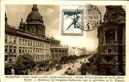 HONGTIE - Oblitération De Budapest Sur Carte Postale En 1925 , Affranchissement Plaisant ( Ski ) - A Voir - L  3857