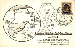 FRANCE / ALGÉRIE - Carte Du Rallye Aérien D 'Algérie Et Du Grand Erg En 1951 - A Voir - L  3858 - Algeria (1924-1962)