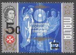 Malta. 1972 Decimal Surcharges. 5c On 1/3 MH. SG 477 - Malta