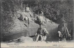 CPA LAOS Asie Indochine Non Circulé éléphants RAQUEZ - Laos