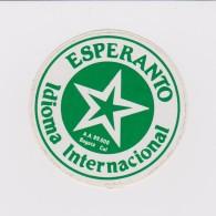 (ST) Sticker - Glumarko - Green Star From Colombia - Verda Stelo El Kolombio - Esperanto