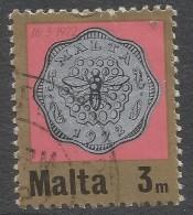 Malta. 1972 Decimal Currency. Coins. 3m Used. SG 468 - Malta