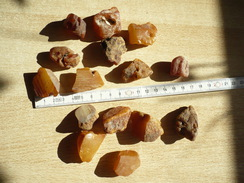 Konvolut Natur-Bernsteine Gelb/braun  (338) - Minéraux & Fossiles