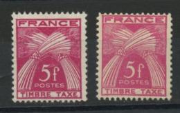FRANCE - TAXE  - N° Yvert 85**  2 TEINTES - Segnatasse