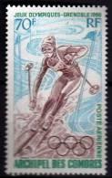 COMORES P.A. N° 22 X  Jeux Olympiques D´hiver à Grenoble, Trace De Charnière Sinon TB