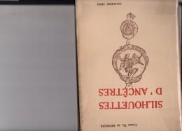 Silhouette D´ancêtres : 2 Série Photo Theodore De Renesse Gouverneur De Limbourg Président Conseil Héraldique 1928 - Non Classés
