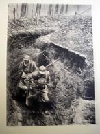 GUERRE DE 14 -18  TRANSPORT D'UN BLESSE OISE 1917 - 1914-18