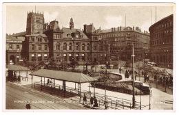 RB 1120 - Postcard - Forster Square Tram Stop & General Post Office - Bradford Yorkshire - Bradford