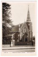 RB 1120 - Early Real Photo Postcard - Wesleyan Church - Catford South London - London Suburbs