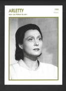 ACTEURS - ACTRICES - CINÉMA - ARLETTY - 1942 FRANCE DANS LES VISITEURS DU SOIR - Acteurs