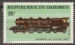 DAHOMEY   -  1974 .  Y&T N° 343 **.  Locomotive 232 N 3.1102 De 1911  /  Train. - Bénin – Dahomey (1960-...)
